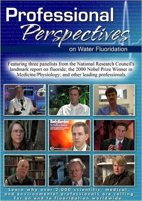 Professional Perspectives on Water Fluoridation cover poster