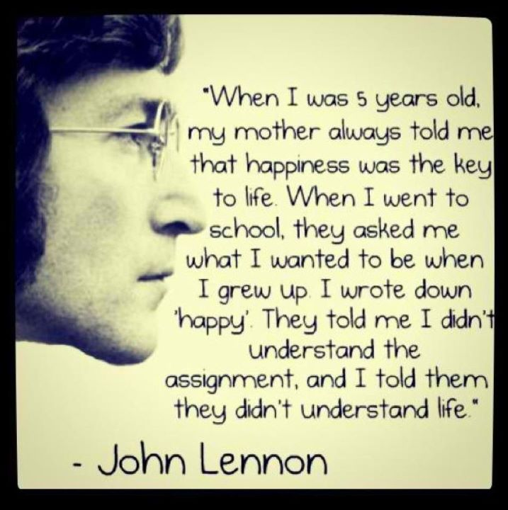 John Lennons Key To Life Ha Tea N Danger