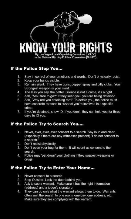 Stop & Search - Know Your Rights - Office of the Police ...