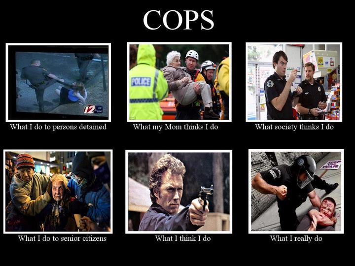 Cops what i do to persons detained what my mom thinks i do what