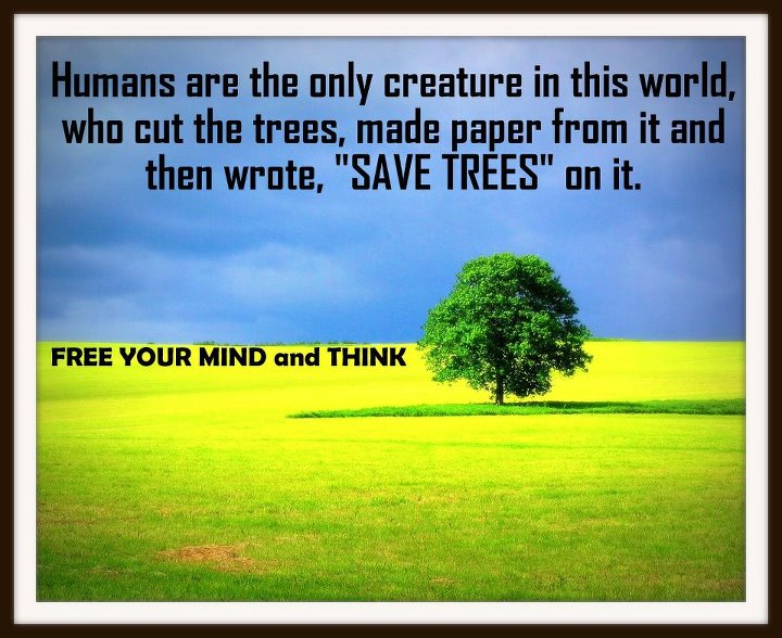 Save Paper Save Environment Save Earth