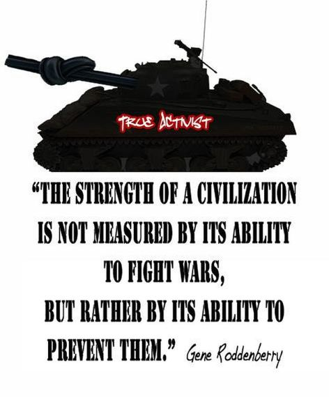 Gene Roddenberry Strength Civilization Wars Ability Prevent