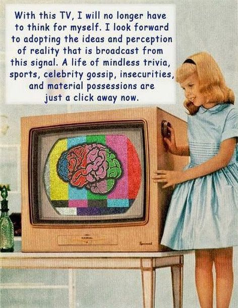 TV Think Myself Adopting Ideas Perception Reality