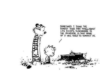 Calvin & Hobbes Sign Intelligent Life