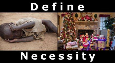 Define Necessity Christmas
