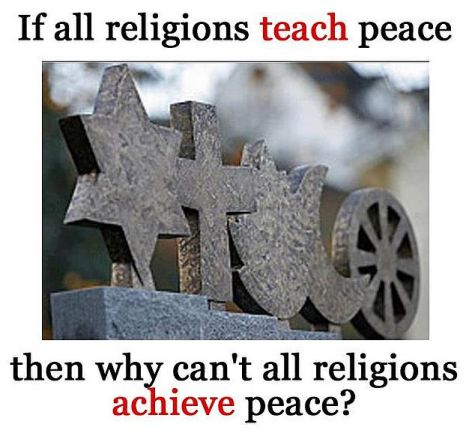 If All Religions Teach Peace Then