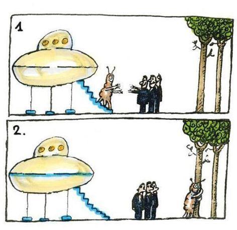 Tree Hugging Aliens