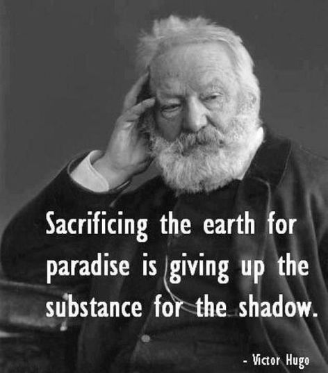 Victor Hugo Sacrificing The Earth