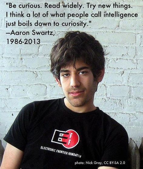 Aaron Swartz Be Curious Read Widely