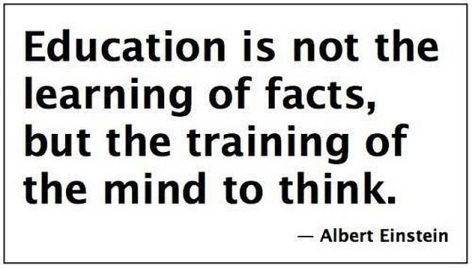 Albert Einstein Education Is Not