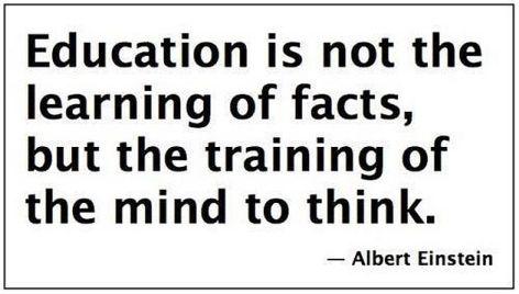 Albert Einstein Education Is Not