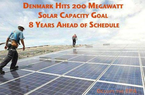 Denmark Hits 200 Megawatt Solar Capacity Goal 8 years Ahead Of Schedule