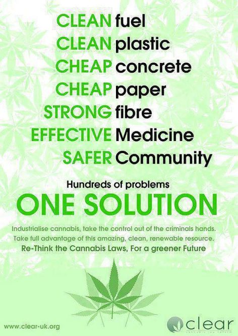 Industrialised Cannabis Hundreds Of Problems One Solution