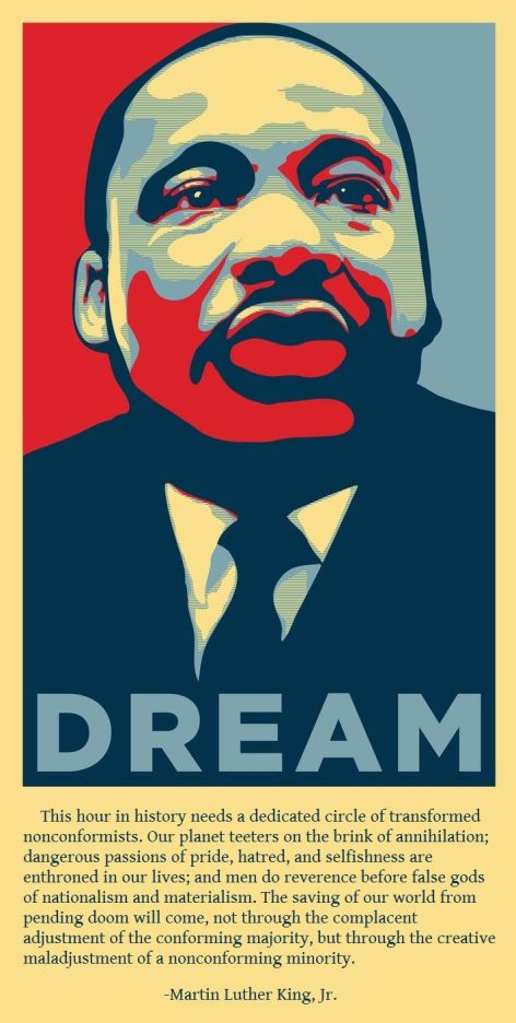Martin Luther King Jr Creative Maladjustment