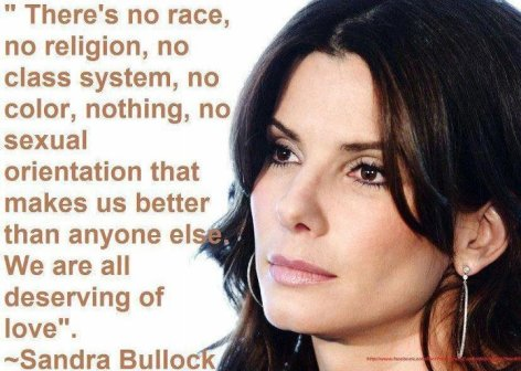 Sandra Bullock There's No Race No