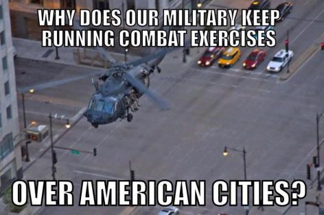 Why Does Our Military Keep Running Combat Exercises Over American Cities