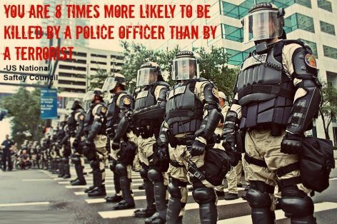 You Are 8 Times More Likely To Be Killed By A Police Officer Than By A Terrorist