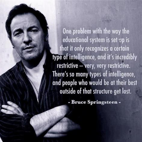 Bruce Springsteen One Problem With The Educational System