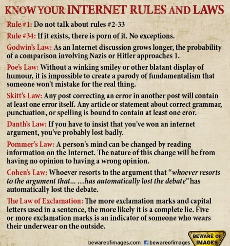Know Your Internet Rules And Laws