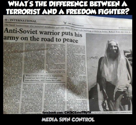 What's The Difference Between A Terrorist And A Freedom Fighter Media Spin Control