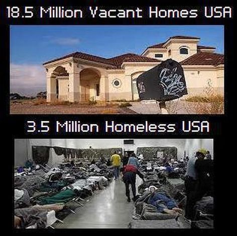 18.5 Million Vacant Homes USA 3.5 Million Homeless USA
