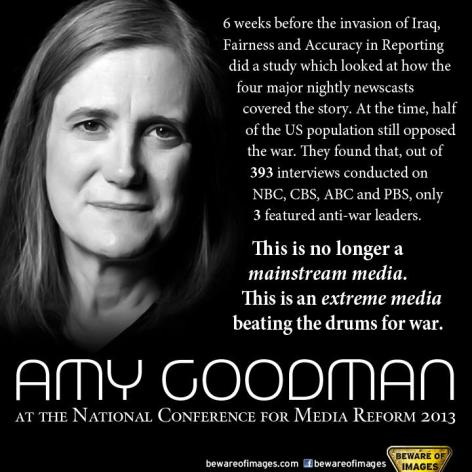 Amy Goodman 6 Weeks Before The Invasion
