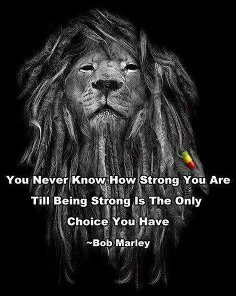 Bob Marley You Never Know How Strong You Are Till Being Strong Is The Only Choice You Have