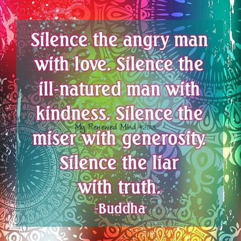 Buddha Silence The Angry Man With Love