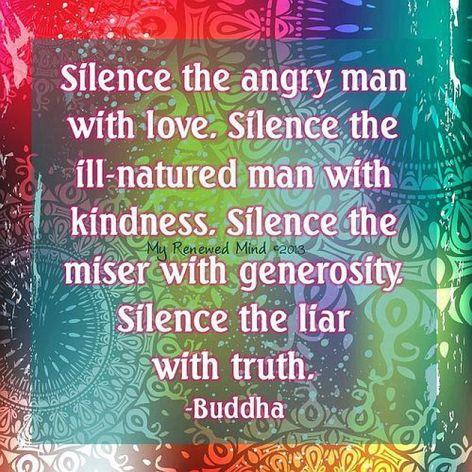 Buddha Silence The Angry Man With Love