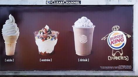 Burger King Side Entree Drink Diabetes