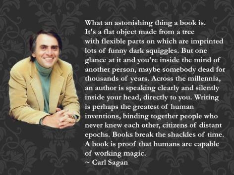 Carl Sagan What An Astonishing Thing A Book Is