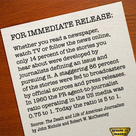 For Immediate Release Whether You Read A Newspaper Watch TV Or Follow The News Online