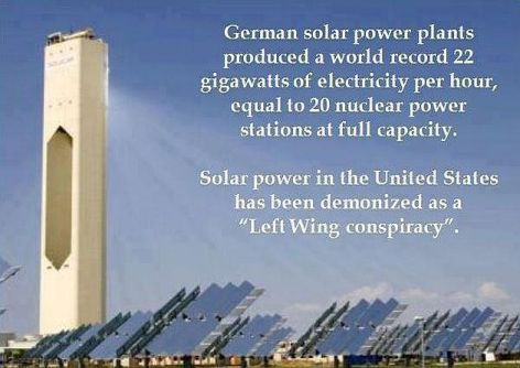 German Solar Power Plants Produced A World Record 22 Gigawatts Of Electricity Per Hour