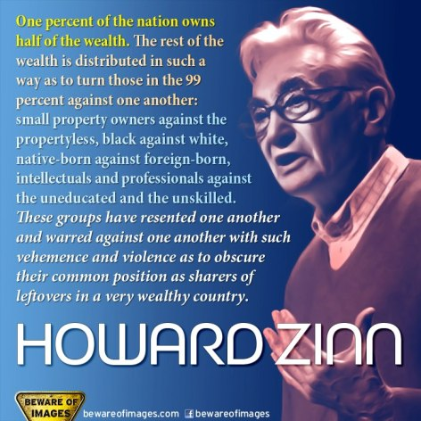 Howard Zinn One Percent Of The Nation Owns Half Of The Wealth