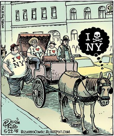 I Hart Heart New York Love Hate Horse Cart Carriage