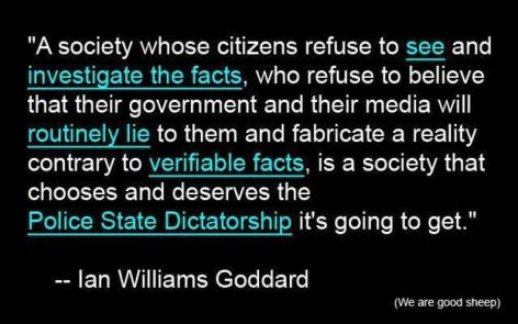 Ian Williams Goddard A Society Whose Citizens Refuse To See And Investigate The Facts