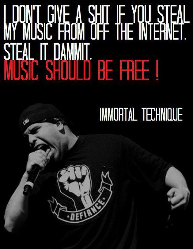the internet should be free from Should music be free already is  on the other hand giving your music away for free on the internet could lead to more fans for the artists so it really depend.