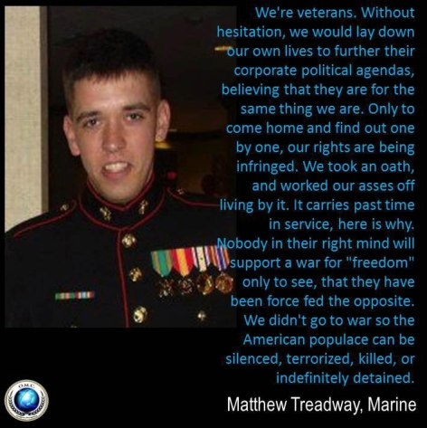 Matthew Treadway Marine We're Veterans