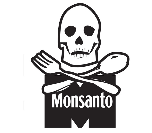 Monsanto Skull And Cross Bones Fork And Spoon