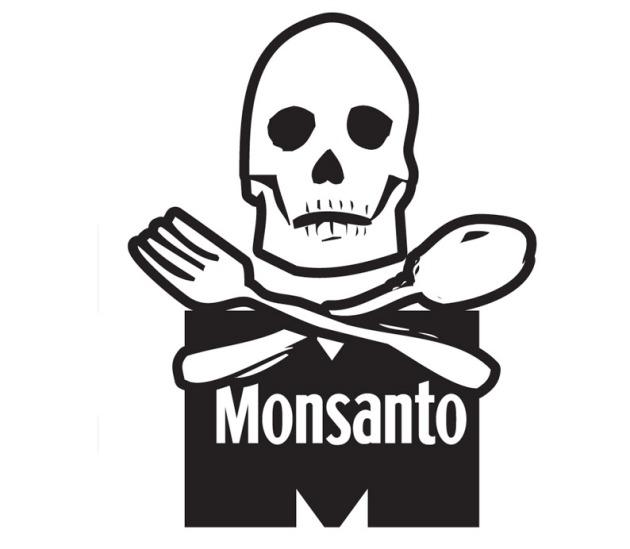 Monsanto Skull And Cross Bones Fork And Spoon