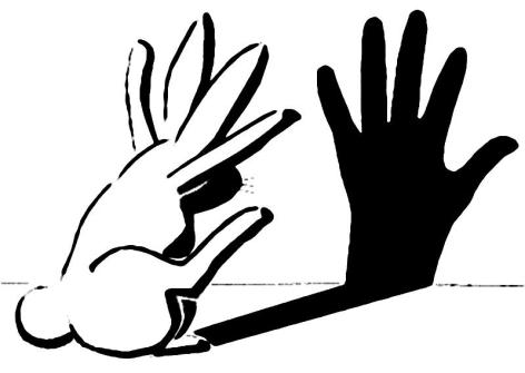 Rabbit Shadow Puppet Hand