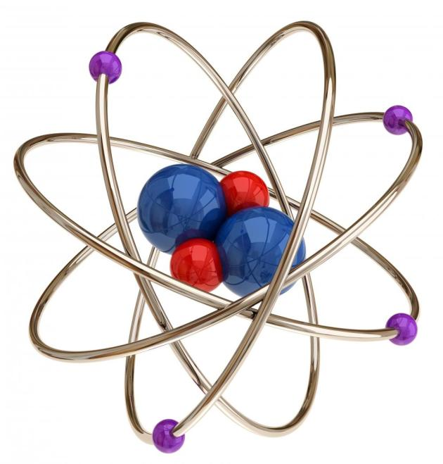 Red Blue Purple Atom