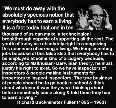 Richard Buckminster Fuller We Must Do Away With The