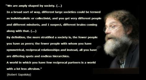 Robert Sapolsky We Are Amply Shaped By Society