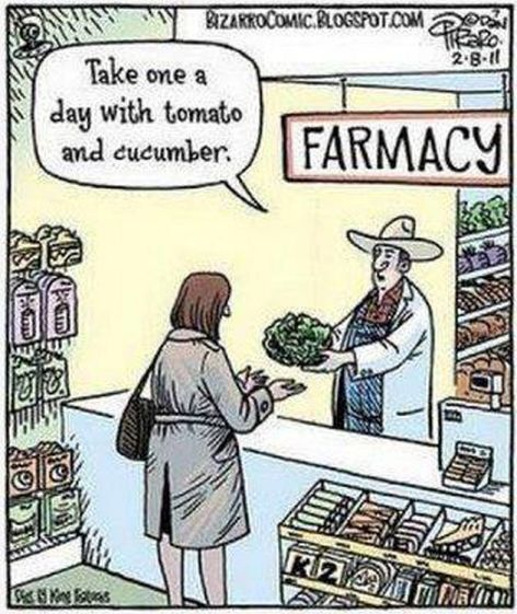 Take One A Day With Tomato And Cucumber Farmacy