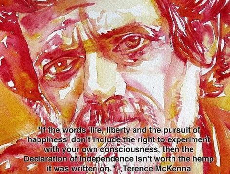 Terence McKenna If The Words Life Liberty And The Pursuit Of Happiness Don't Include Right To Experiment With Your Own Consciousness Then The Declaration Of Independence Isn't Worth The Hemp It Was Written On