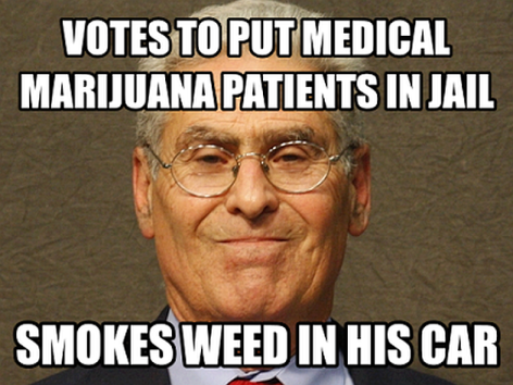 Votes To Put Medical Marijuana Patients In Jail Smokes Weed In His Car