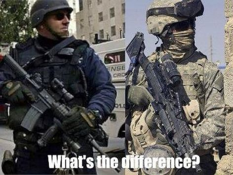 What's The Difference Police Soldier Comparison