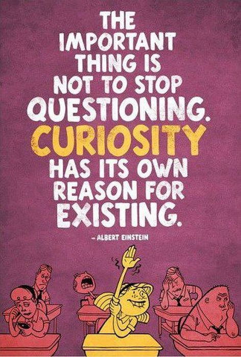 Albert Einstein The Important Thing Is Not To Stop Questioning Curiosity Has Its Own Reason For Existing