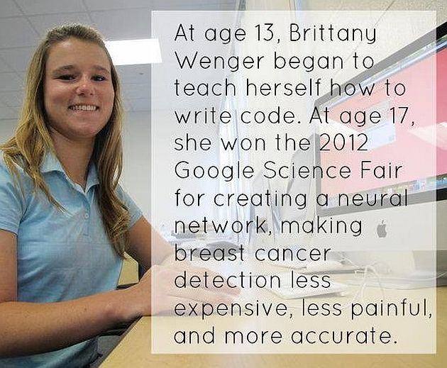 At Age 13 Brittary Wenger Began To Teach Herself